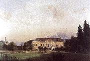 Painting of Castle Harbach in the 19th century