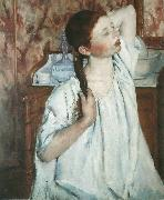 Girl Arranging Her Hair 1886
