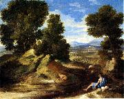Landscape with a Man Drinking or Landscape with a Man scooping Water from a Stream