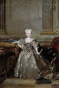 Portrait of the Mariana Victoria of Spain, Infanta of Spain and future Queen of Portugal; eldest daughter of Philip V of Spain and his second wife Eli