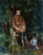 Portrait of Alfred Berard with His Dog