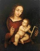 Reading Virgin Mary with the Child