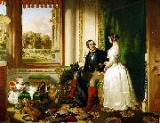 Windsor Castle in Modern Times, 1840-43 This painting shows Queen Victoria and Prince Albert at home at Windsor Castle in Berkshire, England.