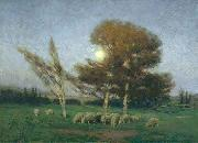 William Bromley Early Moonrise in September oil painting reproduction