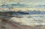 William Lionel Wyllie A Coastal Scene at Sunset oil painting reproduction