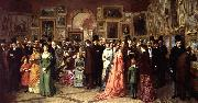 A Private View at the Royal Academy, 1881.