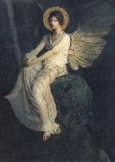 Abbott Handerson Thayer Angel Seated on a Rock oil painting