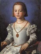 Agnolo Bronzino Portrait of Bia oil painting reproduction