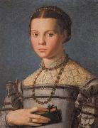 Agnolo Bronzino Portrait of a Little Gril with a Book oil painting reproduction