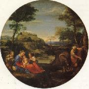 Annibale Carracci The Holy Family Rests on the Fight into Egypt oil painting artist