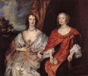 Anthony Van Dyck Anna Dalkeith,Countess of Morton,and Lady Anna Kirk oil painting reproduction