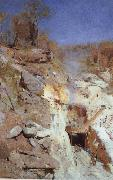 Arthur streeton Fire's On oil painting reproduction