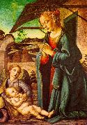 BOTTICINI, Francesco The Madonna Adoring the Child Jesus oil painting picture wholesale
