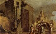 BRAMER, Leonaert Abraham and the Three Angels oil painting reproduction