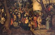 BRUEGHEL, Pieter the Younger The Testimony of John the Baptist oil painting reproduction