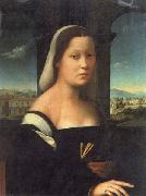 BUGIARDINI, Giuliano Portrait of a Woman oil painting