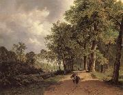 Barend Cornelis Koekkoek View of a Park oil painting