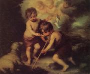 Bartolome Esteban Murillo Children with a Shell
