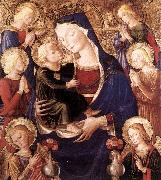 CAPORALI, Bartolomeo Virgin and Child with Angels f oil painting