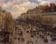 Camille Pissarro Boulevard Montaartre oil painting reproduction