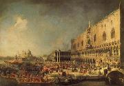 Canaletto The Reception of the French Ambassador in Venice oil painting reproduction