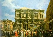 Canaletto Venice: The Feast Day of St. Roch oil painting picture wholesale