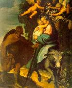 Carducci, Bartolommeo The Flight into Egypt oil painting reproduction