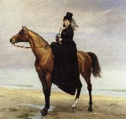 Carolus-Duran At the Seaside,Sophie Croizette on horseback oil painting