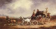 Charles Cooper The Edinburgh-London Royal Mail on the Road oil painting