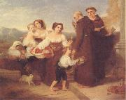 Charles Lock Eastlake The Salutation to the Aged Friar oil painting