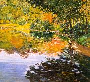 Clark, Kate Freeman Mill Pond- Moors Mill oil painting
