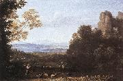 Claude Lorrain Landscape with Apollo and Mercury oil painting reproduction