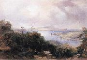 Conrad Martens Sydney Harbour Looking Towards the North End oil painting