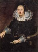 Cornelis de Vos Portrait of a Lady with a Fan