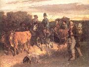 Courbet, Gustave The Peasants of Flagey Returning from the Fair oil painting picture wholesale