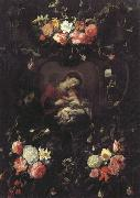 Garland of Flowers,with the Virgin and Child