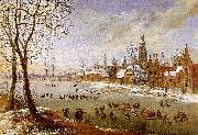 Daniel van Heil The Pleasures of Winter oil painting picture wholesale