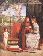 Dante Gabriel Rossetti The Girlhood of Mary Virgin oil painting picture wholesale