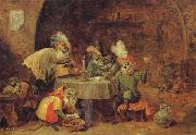 David Teniers Smokers and Drinkers oil painting artist