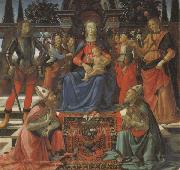 Madonna and Child Enthroned with Four Angels,the Archangels Michael and Raphael,and SS.Giusto and Ze-nobius
