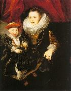 Dyck, Anthony van Young Woman with a Child oil painting