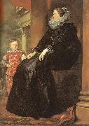 Dyck, Anthony van Genoese Noblewoman with her Son oil painting reproduction