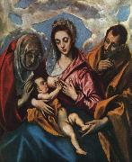El Greco Holy Family oil painting reproduction
