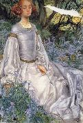 Eleanor Fortescue-Brickdale,RWS In the Springtime oil painting