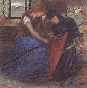 A Lady Affixing a Pennant to a Knight's Spear