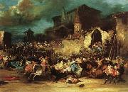 Eugenio Lucas Velazquez Village Bullfight oil painting picture wholesale