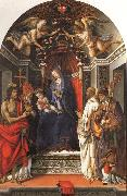 Madonna and Child Enthroned with SS.John the Baptist,Victor,Ber-nard,and Zenbius