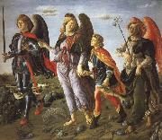 Francesco Botticini Tobias and the Tree Archangels oil painting picture wholesale