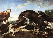 Frans Snyders Wild Boar Hunt oil painting picture wholesale