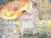 Frieseke, Frederick Carl The Garden Parasol oil painting picture wholesale